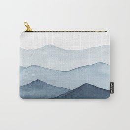 abstract watercolor mountains Carry-All Pouch