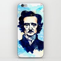 poe iPhone & iPod Skins featuring POE by Jon Cain