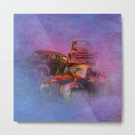 cars lost in the mist of time Metal Print