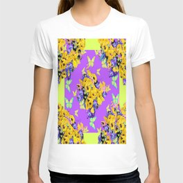 Spring Butterfly Bouquet in Lilac & Yellow T-shirt