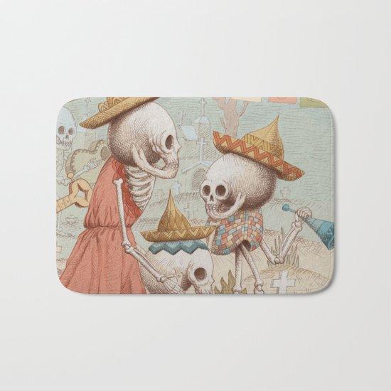 Mexican Skulls 3 Bath Mat