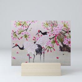 Chinese - Crane and Sakura Mini Art Print