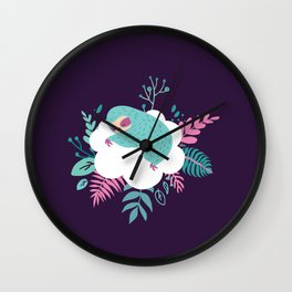 Little Sleeping Sloth Wall Clock