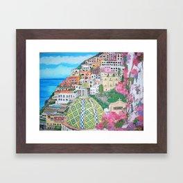 Positano, Italy Framed Art Print