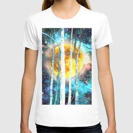 Night Birch Forest T-shirt