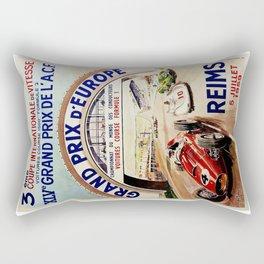Gran Prix de LACF, Reims, 1959, original vintage poster Rectangular Pillow