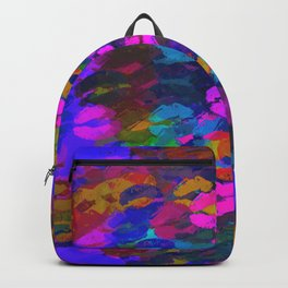 sexy kiss lipstick abstract pattern in pink blue orange red Backpack