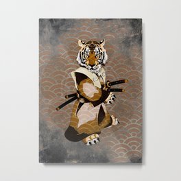 Tiger Samurai Ronin Metal Print