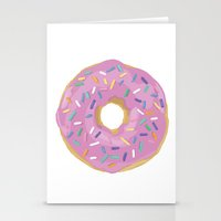 donut Stationery Cards featuring Donut by Sian Murray Art