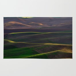 The Palouse Hills at Sunset Rug
