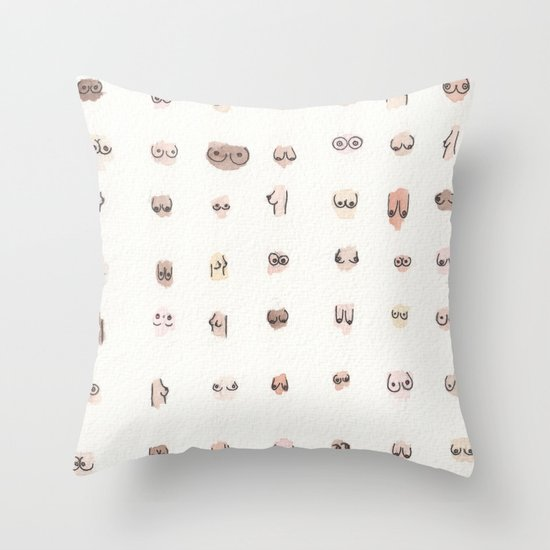 boobs Throw Pillow