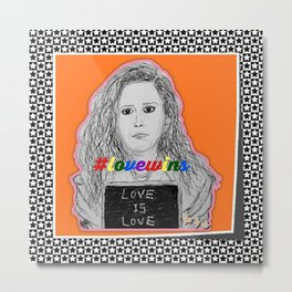 (Oitnb Nicky - Love Is Love) - yks by ofs珊 Metal Print