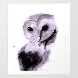 Owl Watercolor Painting 2 Art Print