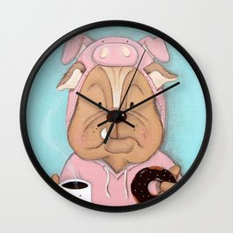 Bulldog Portrait Wall Clock