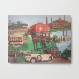 Small Town History Metal Print