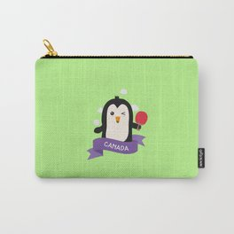 Penguin table tennis from CANADA T-Shirt Carry-All Pouch