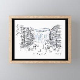 Hong Kong Old Kowloon City Framed Mini Art Print