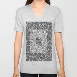 Black and white marble texture 6 Unisex V-Neck
