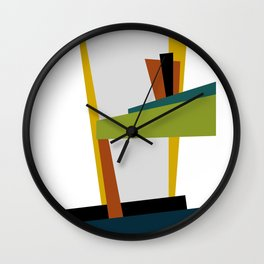 Mid Century Composition 2 Wall Clock