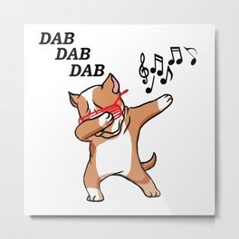 dabbing dog pittie Metal Print
