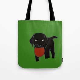 Black Lab Puppy Tote Bag