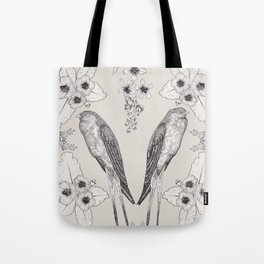 Summer Swallow Tote Bag