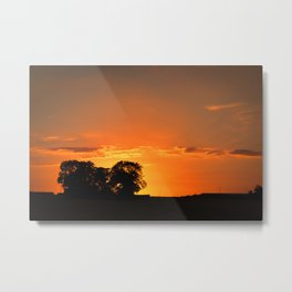Sunset Red Metal Print
