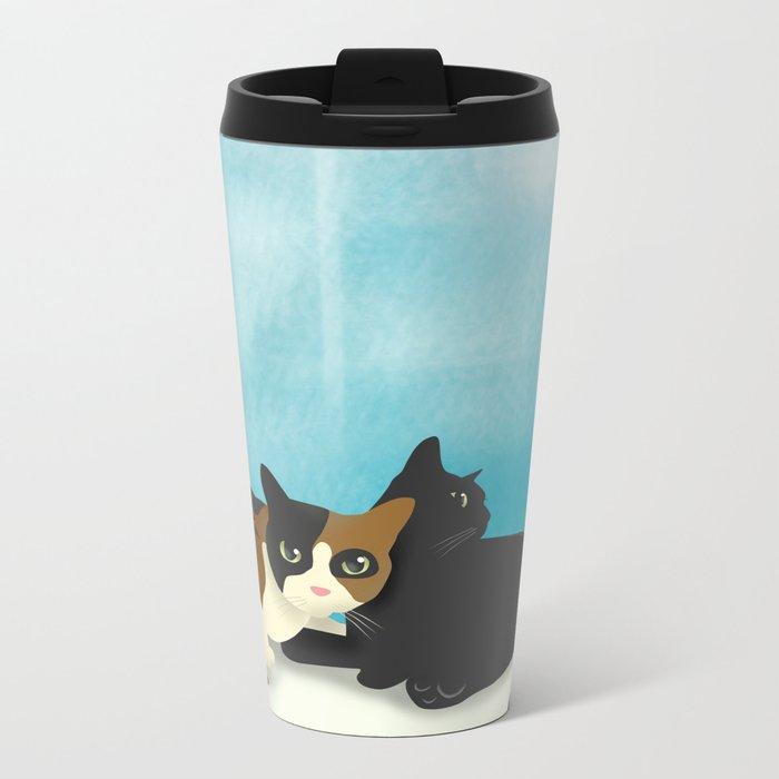 Two cats Metal Travel Mug