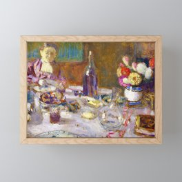 Edouard Vuillard - Luncheon - Digital Remastered Edition Framed Mini Art Print