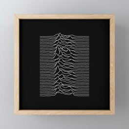 Forty lines of Unknown Pleasures Framed Mini Art Print