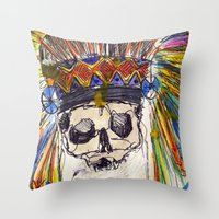 indiana jones Throw Pillows featuring Indiana jones till the end by MGNFQ