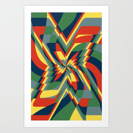 """X"" stract  (Available in the Society 6 Shop) Art Print"