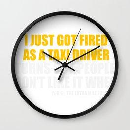 Out of Job Joke Wall Clock