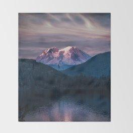 Sunset Mt. Rainier, Mineral, Washington Throw Blanket