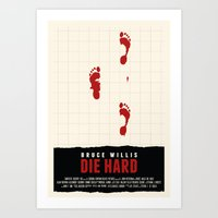 die hard Art Prints featuring Die Hard Movie Poster by ZTH Design