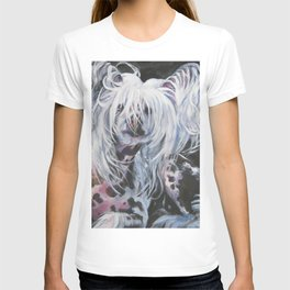 Chinese Crested Dog portrait art from an original painting by L.A.Shepard T-shirt