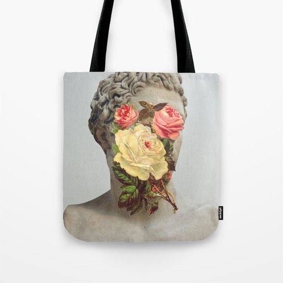 Bust With Flowers Tote Bag
