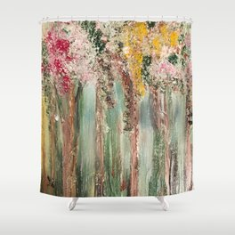 Woods in Spring Shower Curtain