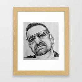 Bono Pen Sketch Framed Art Print