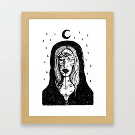 The All Seeing Witch Framed Art Print