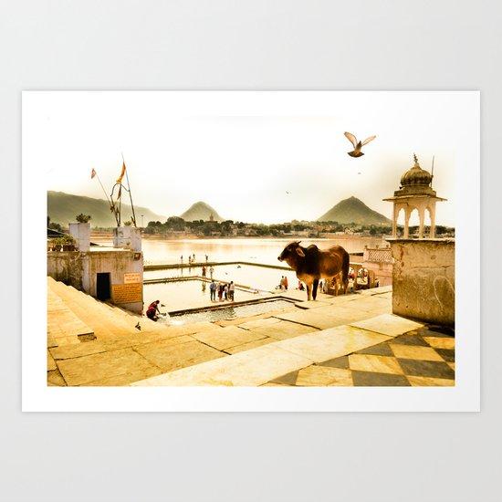 Pushkar Morning Art Print
