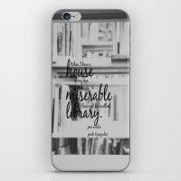 jane austen iPhone & iPod Skins featuring Jane Austen Library by KimberosePhotography