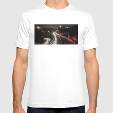 Highway's lights Mens Fitted Tee White MEDIUM