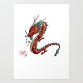 Dragon pure Art Print