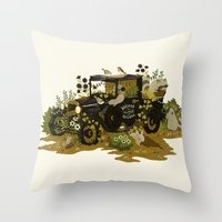 home sweet home Throw Pillows featuring Home Sweet Home by Teagan White