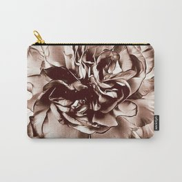 Sepia Toned CArnation Carry-All Pouch