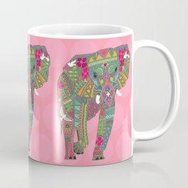 painted elephant pink spot Coffee Mug