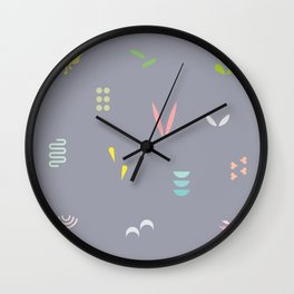 Abstract Leaf Wall Clock