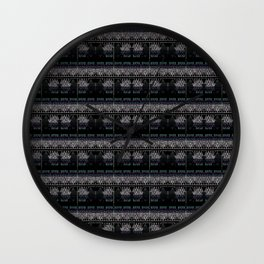 Body Suits - Black and White Wall Clock