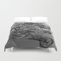 bikes Duvet Covers featuring Bikes by DarkMikeRys